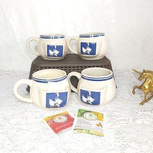 Vintage Blue Ribbon Geese Tea Bag Holder Mug